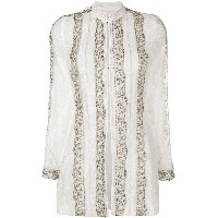 Etro embellished lace tunic blouse - ホワイト