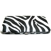 (財布) ZEBRA FLAT OPERA WALLET CLUTCH PURSE CHECKBOOK HOLDER BY DESIGNSK
