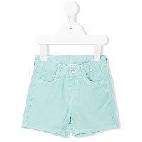 Knot buttoned shorts - ブルー