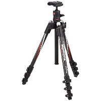 Manfrotto MKBFRC4-BH Befree カーボン ファイバー Tripod with Ball Head (Black) (海外取寄せ品)