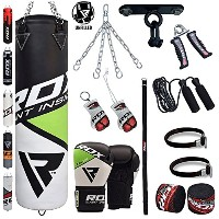 RDX 13 ピース Boxing セット 4FT 5FT Unfilled Heavy Punch Bag グローブ Ceiling Hook チェーン Training MMA Punching...