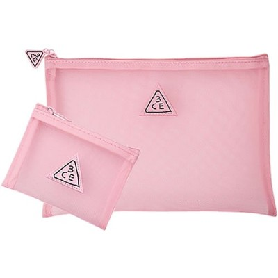 3CE PINK RUMOUR MESH POUCH [並行輸入品]