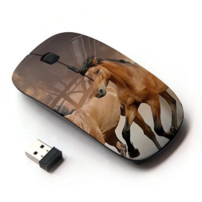 KOOLmouse [ ワイヤレスマウス 2.4Ghz 無線光学式マウス ] [ Horses Fur Animals Nature Mustang Riding Brown ]