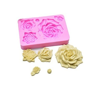 Wocuz Rose Fondant Silicone Moulds Chocolate Candy Making Mould Candycraft Cake Baking Tools,13cm 8...