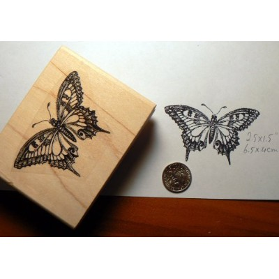 Butterfly rubber stamp WM P15