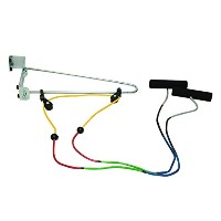 CanDo® Overdoor Shoulder Pulley - Double Pulley with Door Bracket - Visualizer? Color System