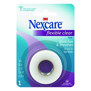 Nexcare Flexible Clear First Aid Tape, 1-Inch x 10-Yard Roll (Pack of 24) by Nexcare