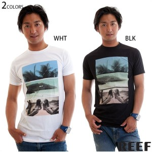 REEF Tシャツ メンズ 半袖 トップス スリムフィット Tee TROPICAL WATERS プリント リーフ正規販売店