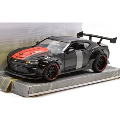 """JADA TOYS 1:24SCALE BIGTIME MUSCLE - WIDE BODY """"2016 CHEVROLET CAMARO SS""""(BLACK) ジェイダトイズ 1:24スケール..."""