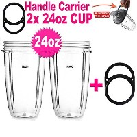24oz.Large Tall Cup for NUTRIBULLET 600W & 900W by ELEFOCUS