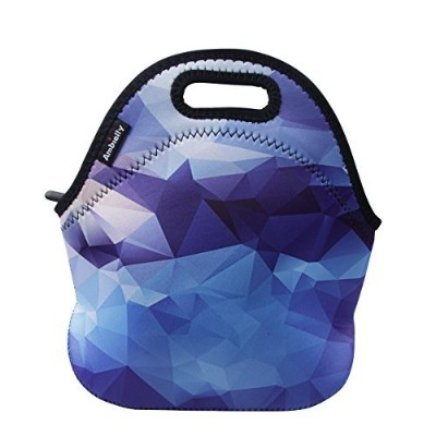 (Blue Diamond) - Ambielly Neoprene Lunch Bag/Lunch Box/Lunch Tote/Picnic Bags Insulated Cooler...