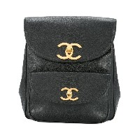 Chanel Vintage CC turnlocks backpack - ブラック