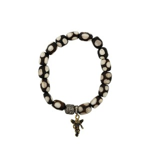 Loree Rodkin beaded gold angel bracelet - ブラウン