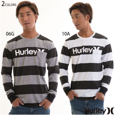 【20%OFF!SALE】Hurley ハーレー ONE&ONLY SICCUS STRIPE L/S 長袖 ポケット Tシャツ メンズ ボーダー