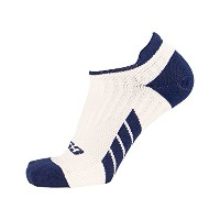 High Quality Low Cut Ankle Compression Socks, Navy on White, Small