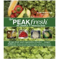 Peak Fresh Re-Usable Produce Bags **Set of Two** (20 bags total) by Peak Fresh