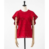 mame/マメ  Floral Cutwork Lace Tops(MM18SS-SH049) RED 【三越・伊勢丹/公式】 レディースウエア~~シャツ