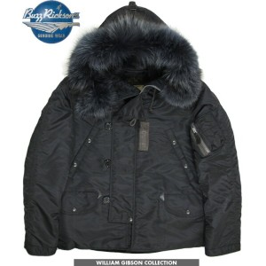 """BUZZ RICKSON'S/バズリクソンズ JACKET, AIRCREW HEAVY, ATTACHED HOOD type BLACK N-3B SLENDER SHORT """"William..."""
