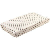 Oeuf Changing Pad Cover-Fox, Light Grey by Oeuf