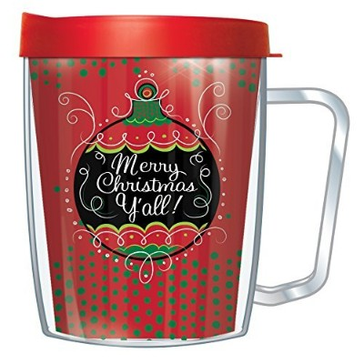 Merry Chistmas Y 'allラップタンブラーMug with Lid 18 Oz レッド