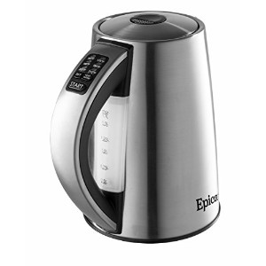 Epica 6-Temperature Variable Stainless Steel Cordless Electric Kettle by Epica