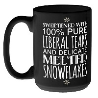 Liberal Tears and Melted Snowflakesマグ 15 oz ブラック