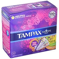 Tampax Radiant Plastic Regular Super