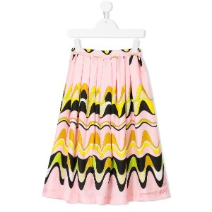 Emilio Pucci Junior geometric swirl print skirt - ピンク&パープル