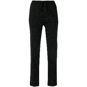Juun.J elasticated waist pinstripe trousers - ブラック