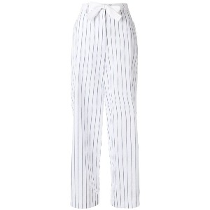 Hache striped trousers - ホワイト