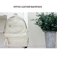 OFFICE LEATHER BACKPACK [warm gray]