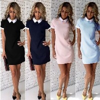 New Summer Women Short Sleeve Office Bodycon Evening Party Cocktail Short Mini Dress