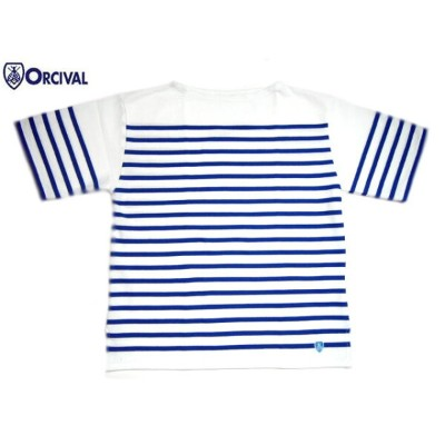 ORCIVAL(オーシバル)/#6116 MEN'S S/S BOATNECK TEE/white x blue