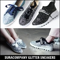 SuraCompany  luxury glitter sneakers