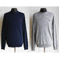 FRED PERRY [フレッドペリー] CLASSIC CREW NECK SWEATER [395 DARK CARBON ,307 STEEL MARL] クラシッククルーネックセーター...