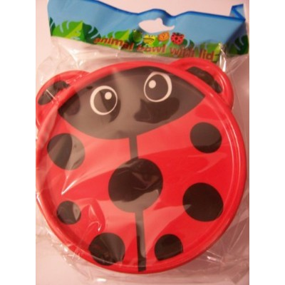 "Animal Friends Ladybug Plastic Travel Bowl with Lid (5"") by Greenbrier [並行輸入品]"
