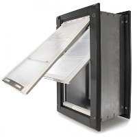 Endura Flap Extra Large Wall Mount - Bronze Double Flap 30.5cm x 55.9cm pet door