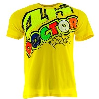 Valentino Rossi VR46 Moto GP The Doctor Yellow T-shirt Official 2017