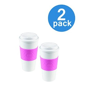 Copco 2510-9920 Acadia Travel Mug, 16-Ounce, Bubble Gum (Set of 2) by Copco