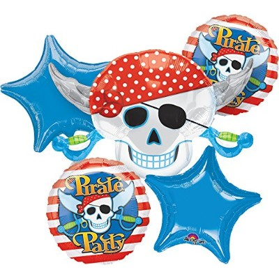 Pirate Party Bouquet Of Balloons by Costume SuperCenter