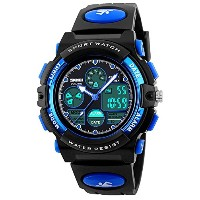 AQBD 50M Waterproof LED Alarm Stop Watch Digital Child Quartz Watch ガールズ ボーイズ ビュー マルチファンクション...