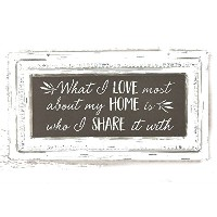 """ What I Love最もabout my home is who I "" Tin Signと共有し、6.5 "" X 12。」"