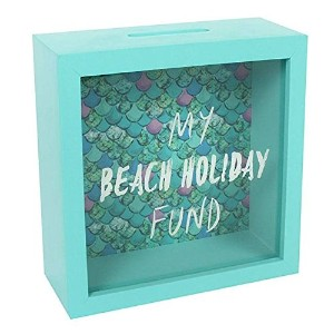 Beach Fund Frame Money Box, Green