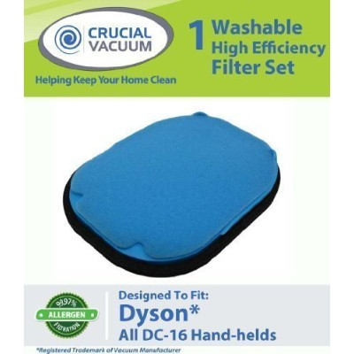 High Quality Washable Reusable Pre-Motor Filter Designed To Fit All Dyson DC16 Hand-held Vacuums;...