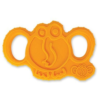 oogaa Baby Silicone Elephant Teether - Easy Clean, Baby Safe - 8 x 3.5in - Orange by oogaa