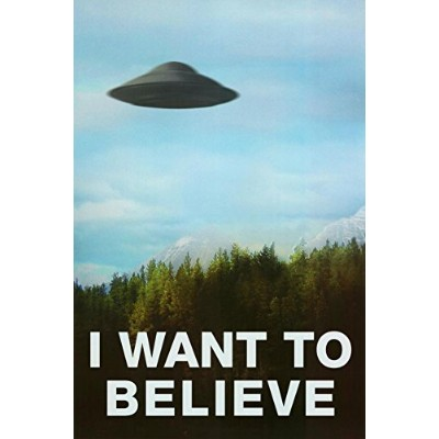 I Want to Believe ポスター (24x36) Unframed X160297