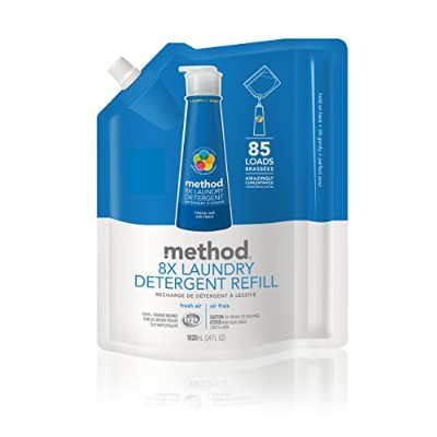 Method 8X Concentrated Laundry Detergent Refill, Fresh Air, 85 Loads, 34 fl.oz by Method