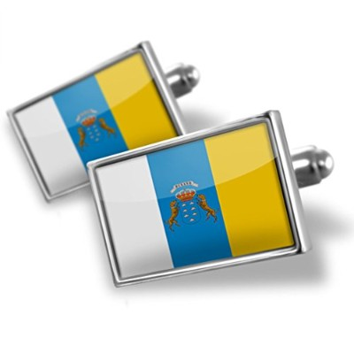 Cufflinks Canary Islands (スペイン)フラグ – Neonblond