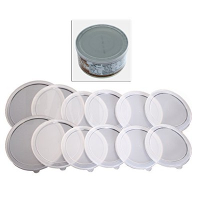12Piece Assortedサイズ2S 2M 8LプラスチックCan Covers Lids For Canned Goodsまたはペット犬猫食品保存食品新鮮な、Tight seal-...
