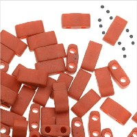 Miyuki Half Tila 2 Hole Rectangle Beads 5x2.3mm - Burnt Sienna 7.8 Grams by Miyuki [並行輸入品]